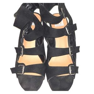 Black zip up sandals